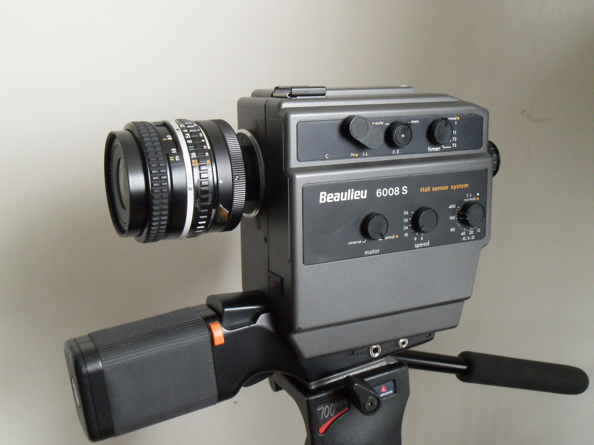The photo above shows the camera with a Nikon 35mm f/2.5 with an mount  adaper.